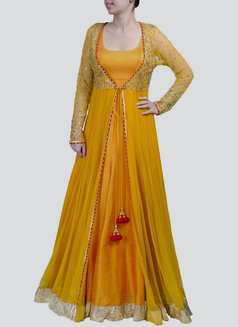 NewDesignsofLongAnarkaliSuitsCollection201428429 - New Designs of Long Anarkali Suits Collection 2014