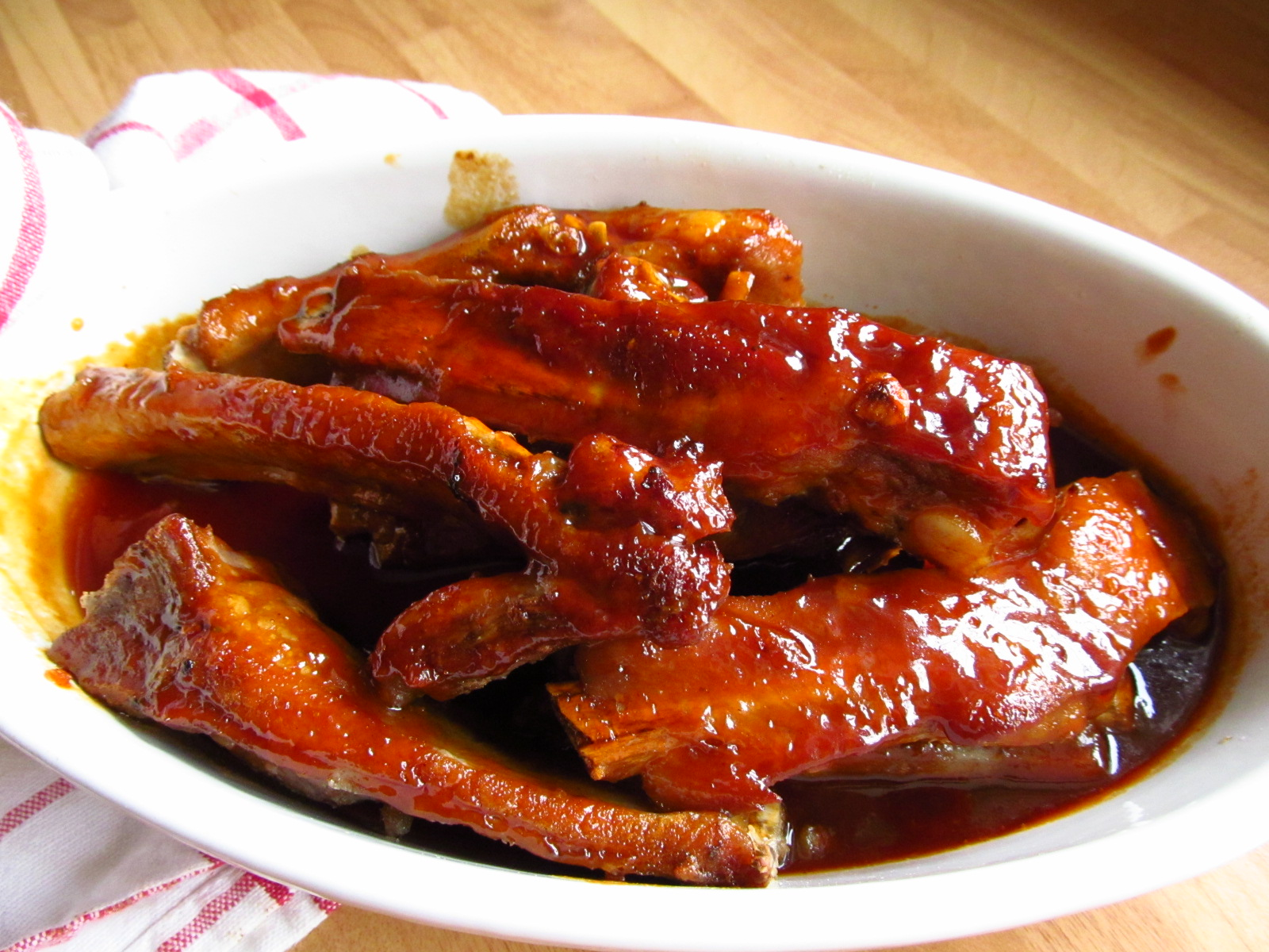 good food shared donal skehan s sticky barbeque spare ribs