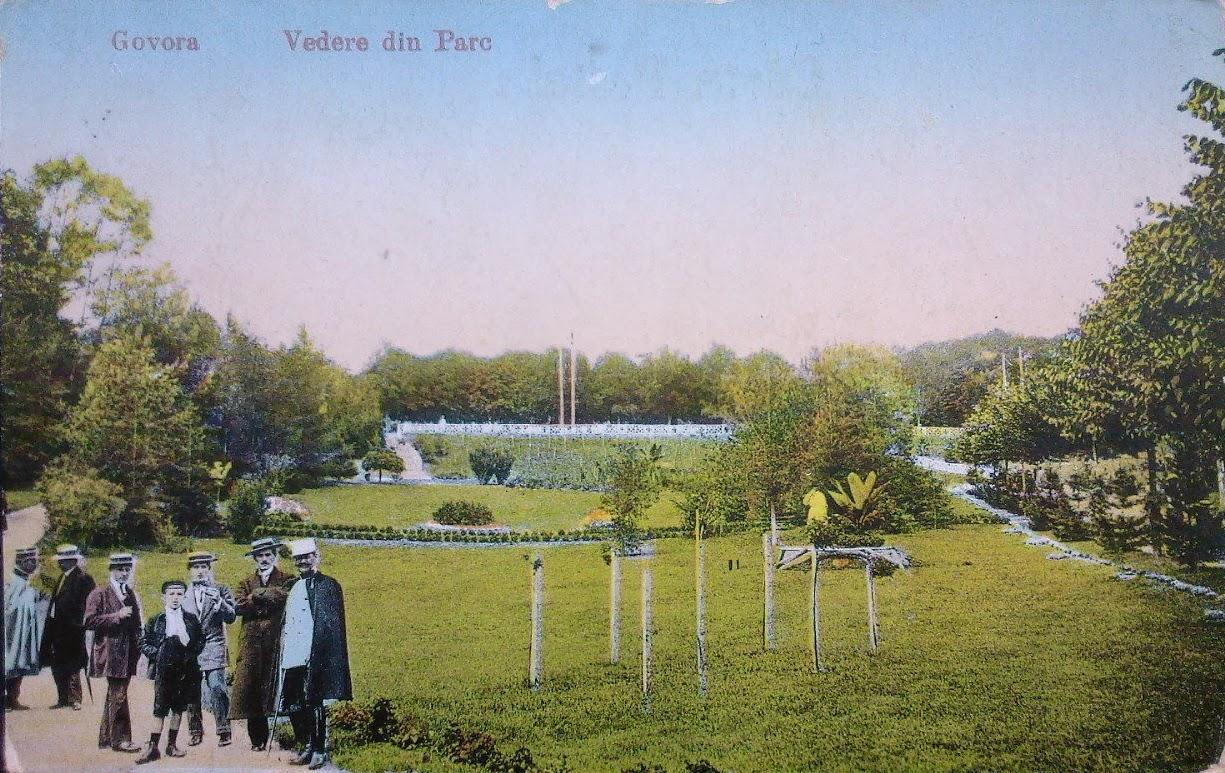 Parcul din Govora de altadata