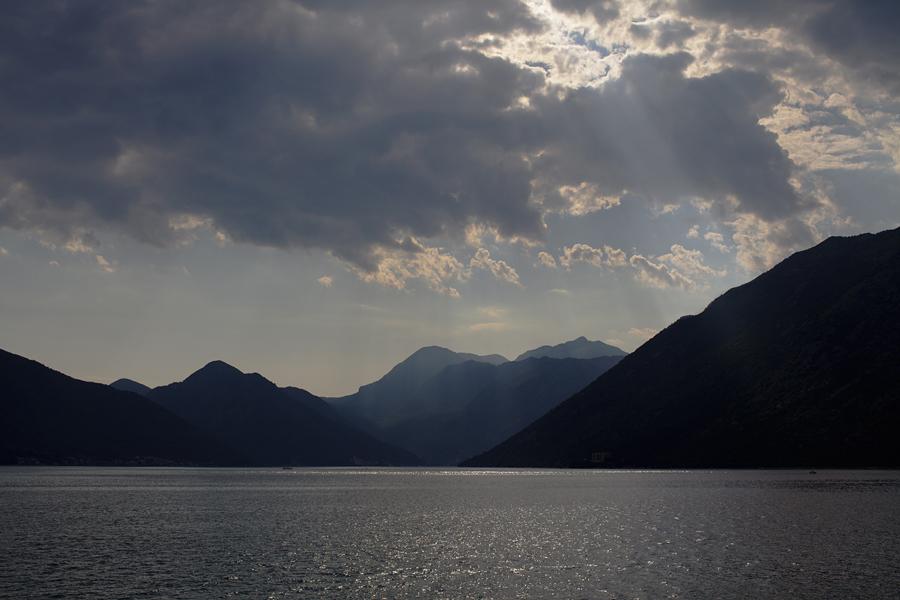 Kotor, Kotor bay, Montenegro, sunset