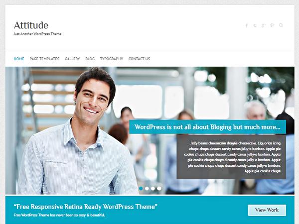 Download Gratis Attitude Wordpress theme , News , Blog