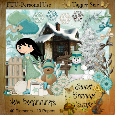 "Scrapbook Freebie ""New Beginnings"" by sweetcravingsscraps"