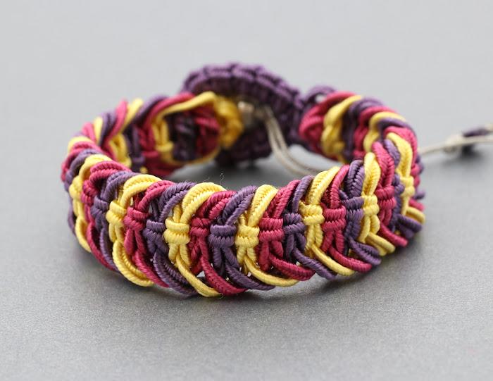 bransoletka - makrama - sznurek do sutaszu