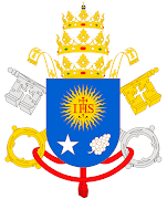 . la basílica vaticana, con estas palabras: «Os anuncio con gran alegría: . escudo papal de francisco