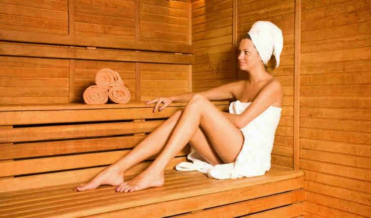 12 minutes in a 230 degrees Fahrenheit sauna