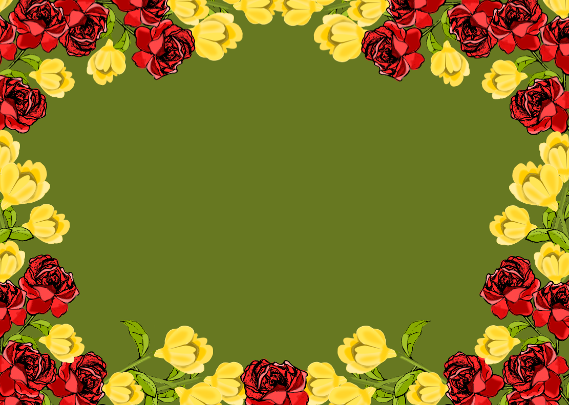 free red and yellow flower frame png – Rosenrahmen – freebie ...