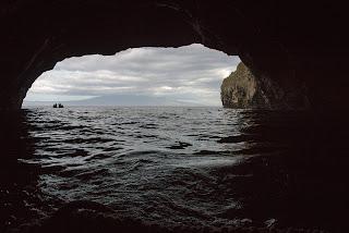 sea cave at Albemarle, Isabela Island, Galapagos