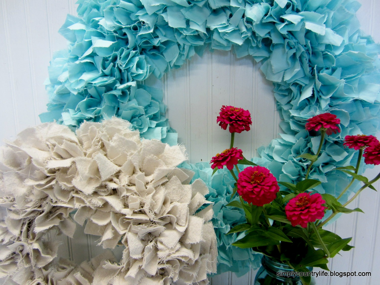 Simply Country Life: Handmade Drop Cloth Rag Wreath