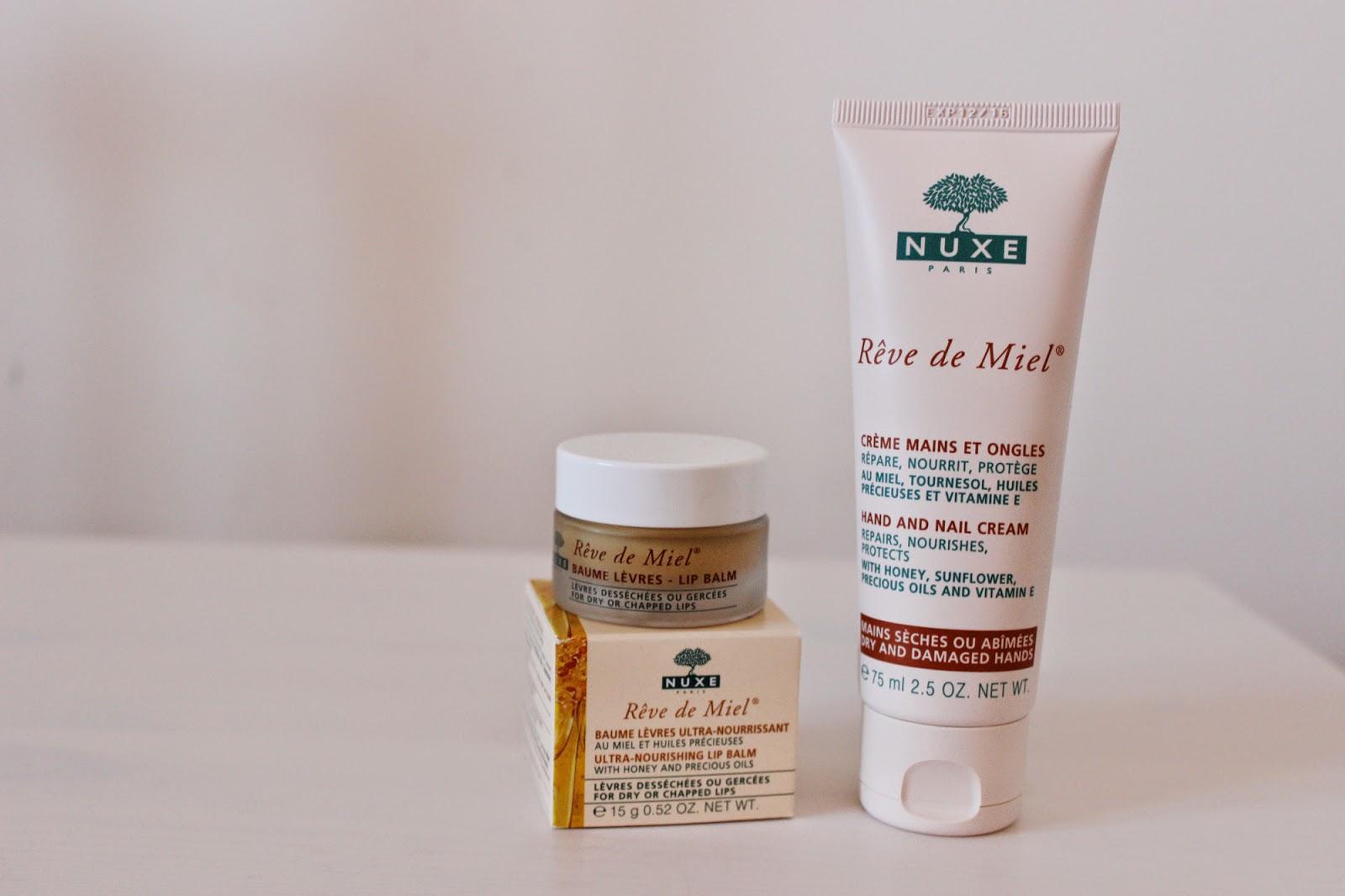 Nuxe Reve De Miel Lip Balm & Hand Cream Review - Zoey Olivia