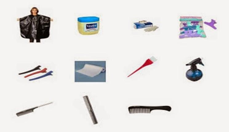 materiales para la aplicacion de tinte