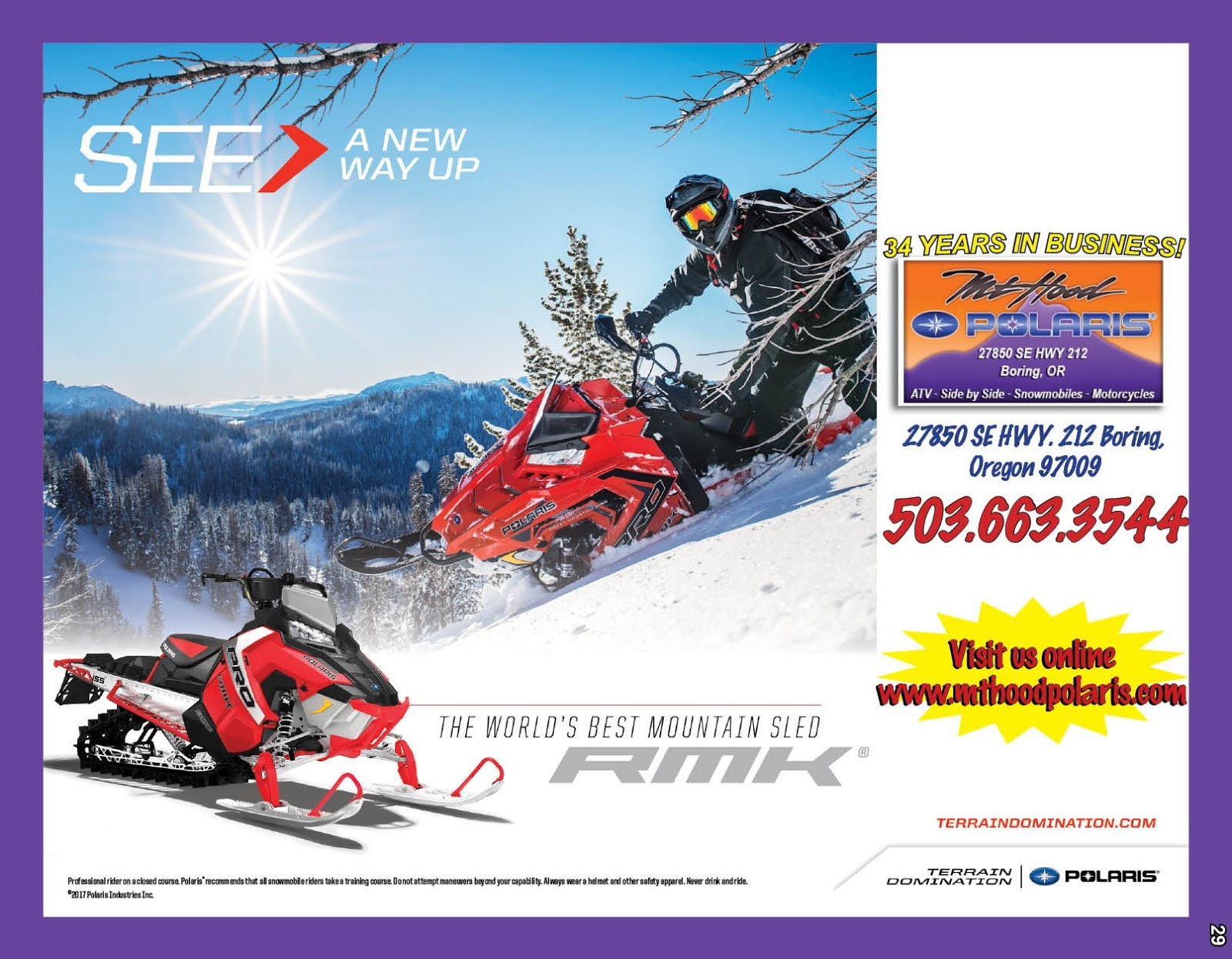 Mt Hood Polaris Biggest Sale of the Year!!