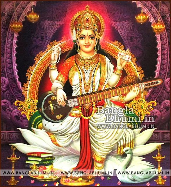 Maa Saraswati Goddess of Knowledge India God HD Poster Wallpaper