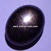 Batu Permata Black Saphire Star - 03k03