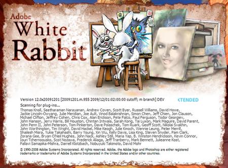 Adobe Photoshop CS5 White Rabbit