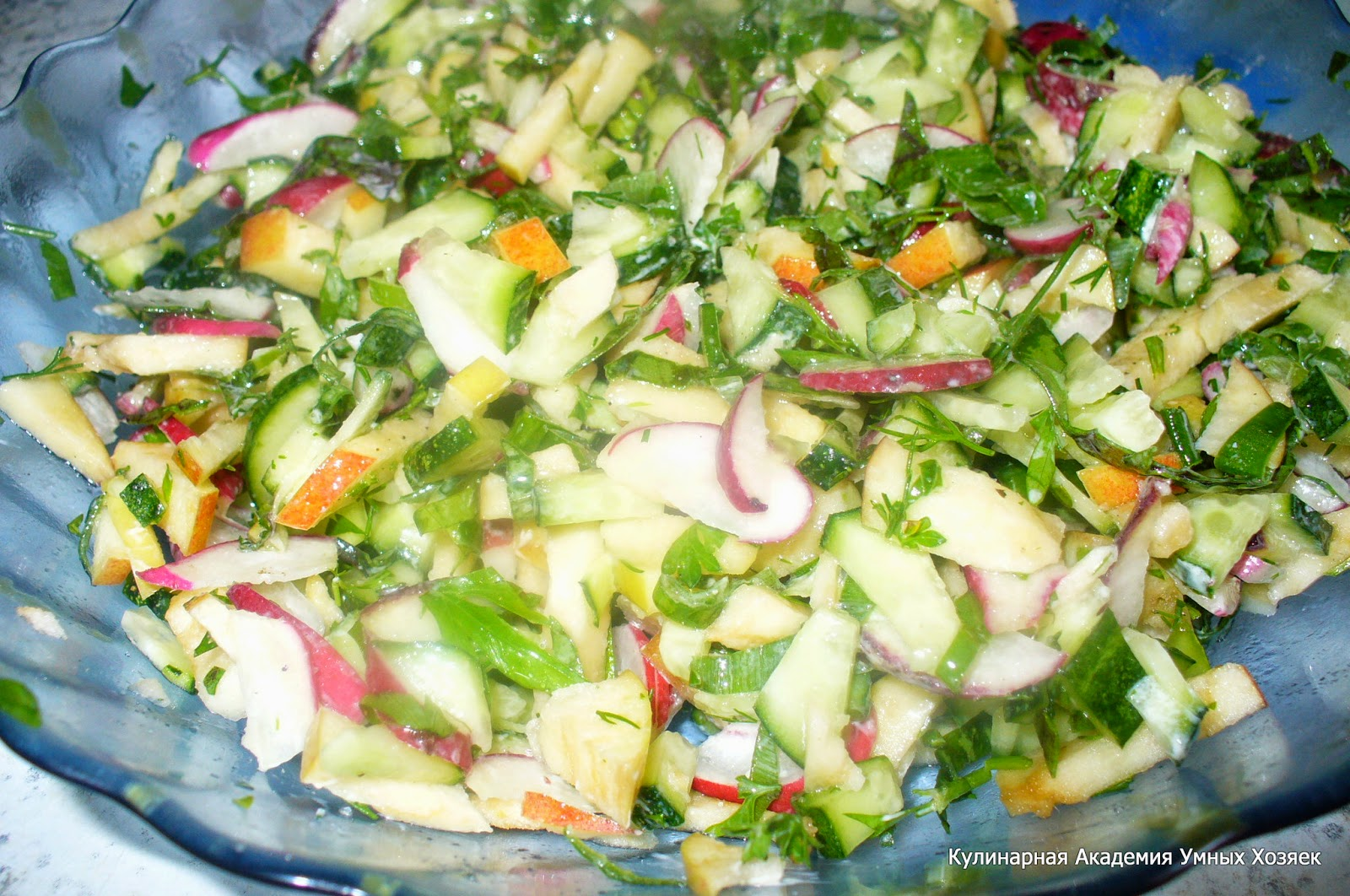 Простые салаты со свежим огурцом рецепты с
