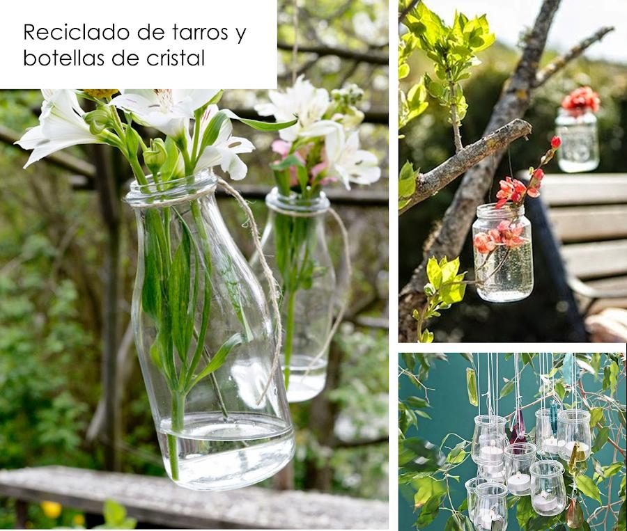 Adornos jardin reciclados botellas que son jarrones for Adornos jardin baratos