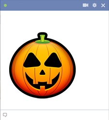Pumpkin Face - Facebook Sticker