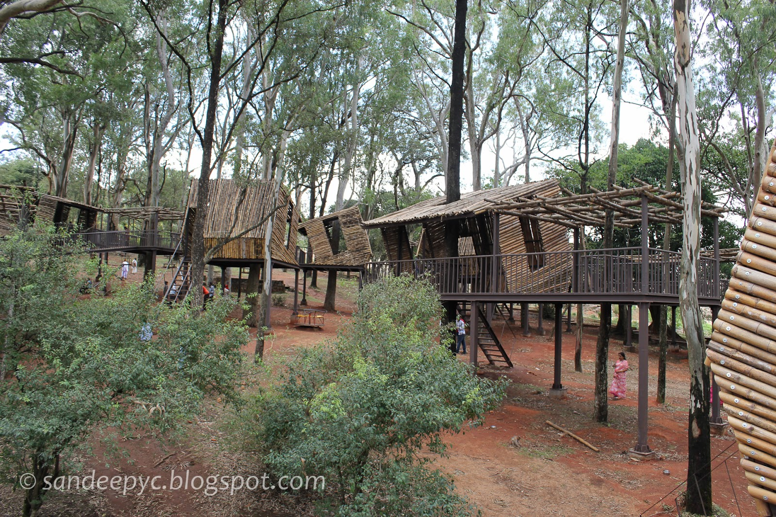 Bamboo houses at Nandi hills