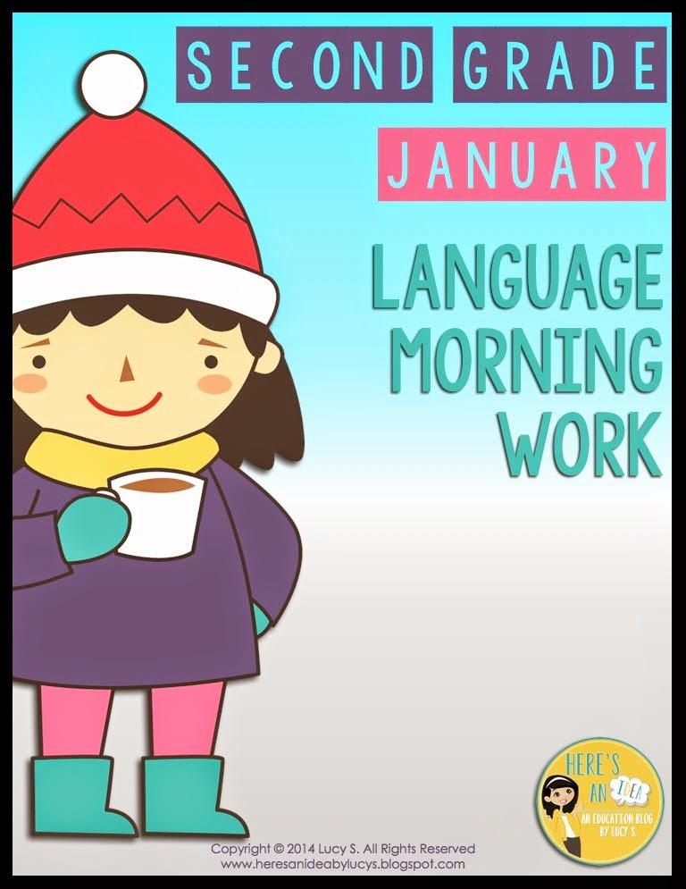 2nd Grade Language Morning Work - January
