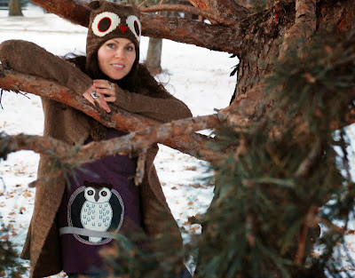 SFowlc - Woot! Snowy Owl Organic Tunic