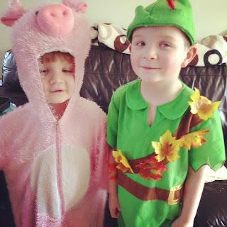 Peter Pan & A Pig
