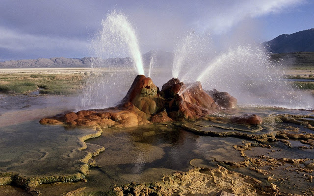 desert nevada wallpaper, geyser black rock