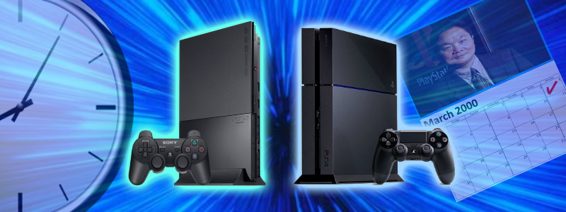 PS2 and PS4 Time Travel, PS2 release date, clock
