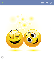 Facebook emoticons having fun