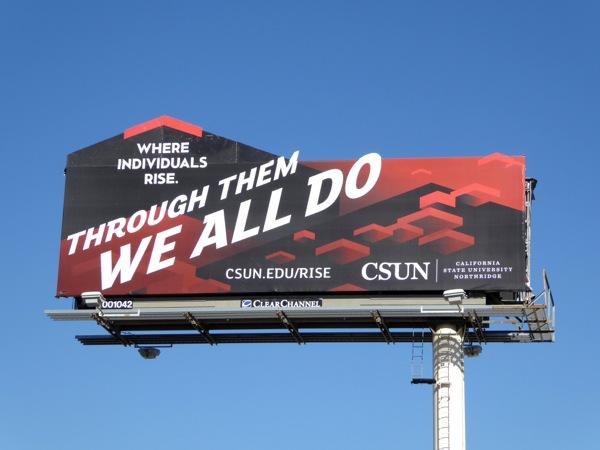 CSUN individuals rise billboard