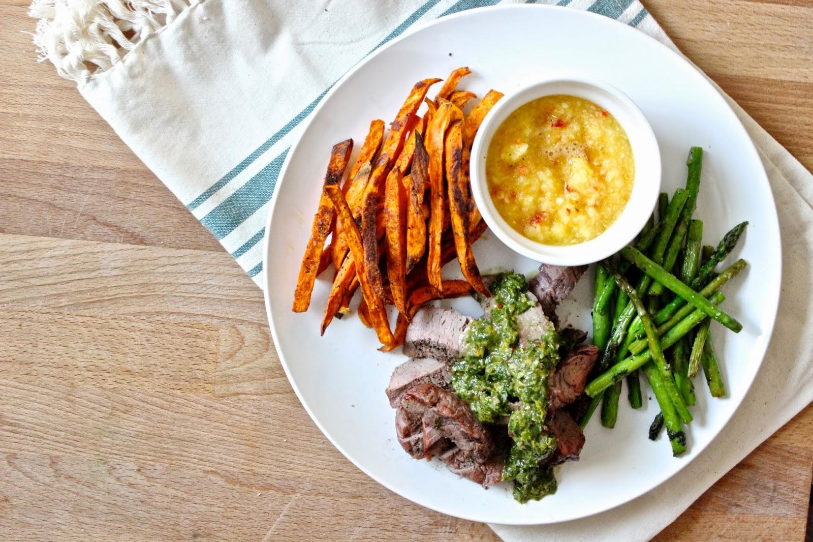 how to cut sweet potato steak fries