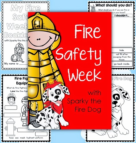 Fire Safety Week with Spark the Fire Dog Unit