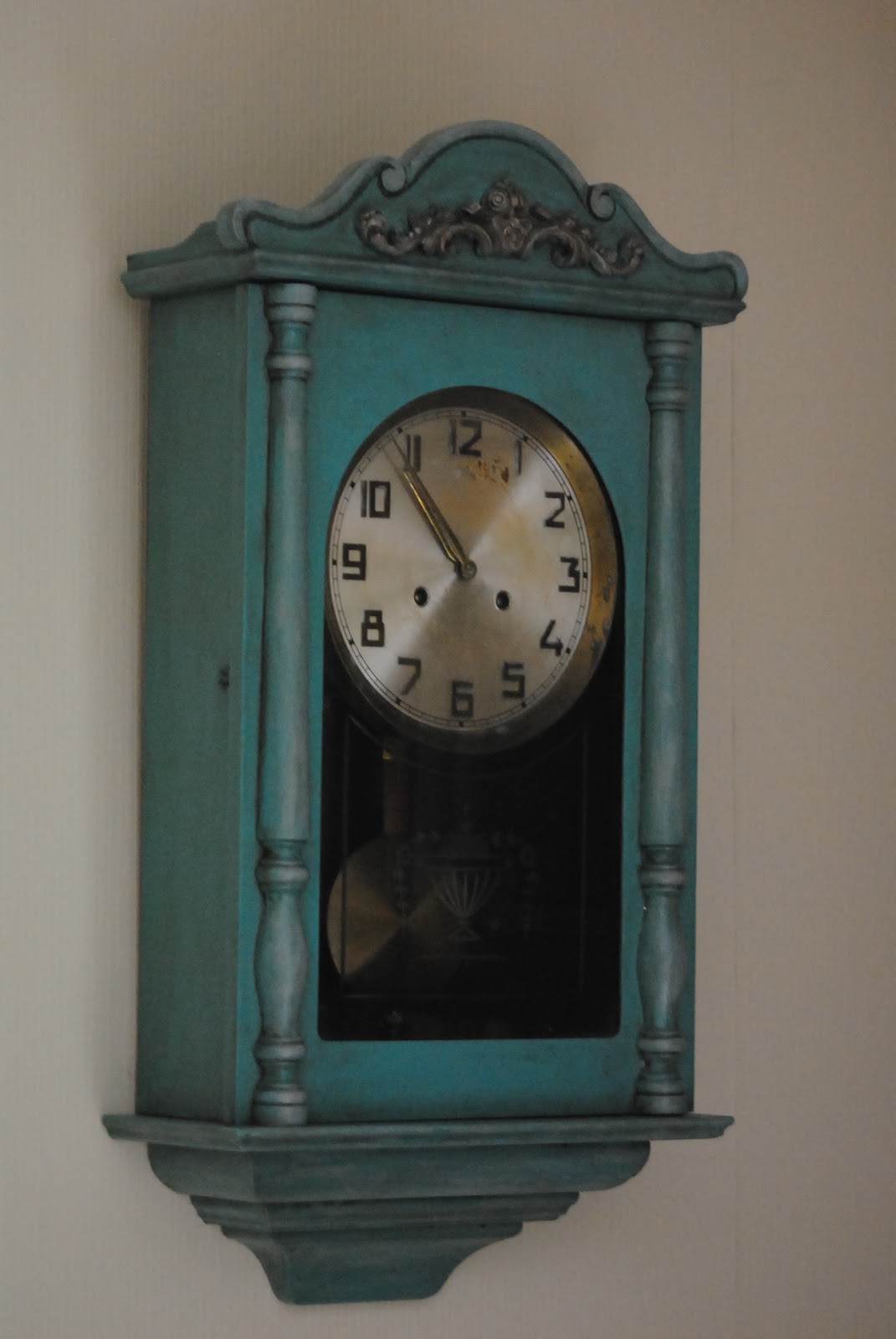 Decorando online reloj de pared pintado - Reloj para pared ...