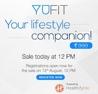 Amazon Exclusive YuFit Fitness Band by Yureka at Rs.999: Buytoearn