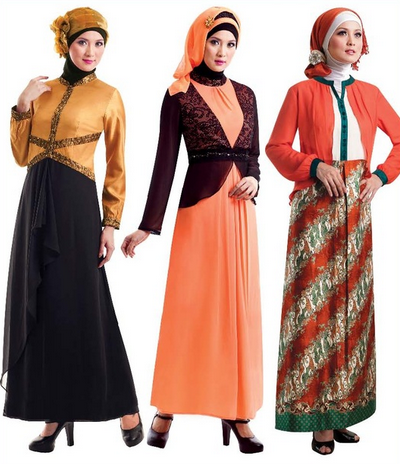 Model Baju Muslim Brokat Terbaru 2015