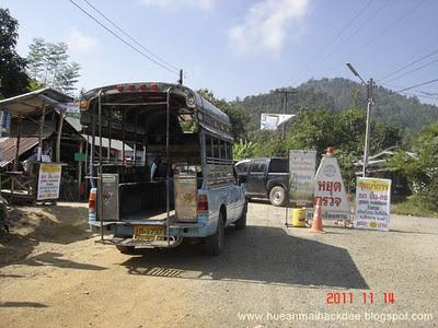การบริการรถประจำทางขึ้น ลง ภูทอก แหล่งท่องเที่ยวเชียงคาน