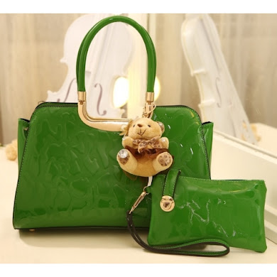 FASHION BAG ( 2 IN 1 SET ) - GREEN