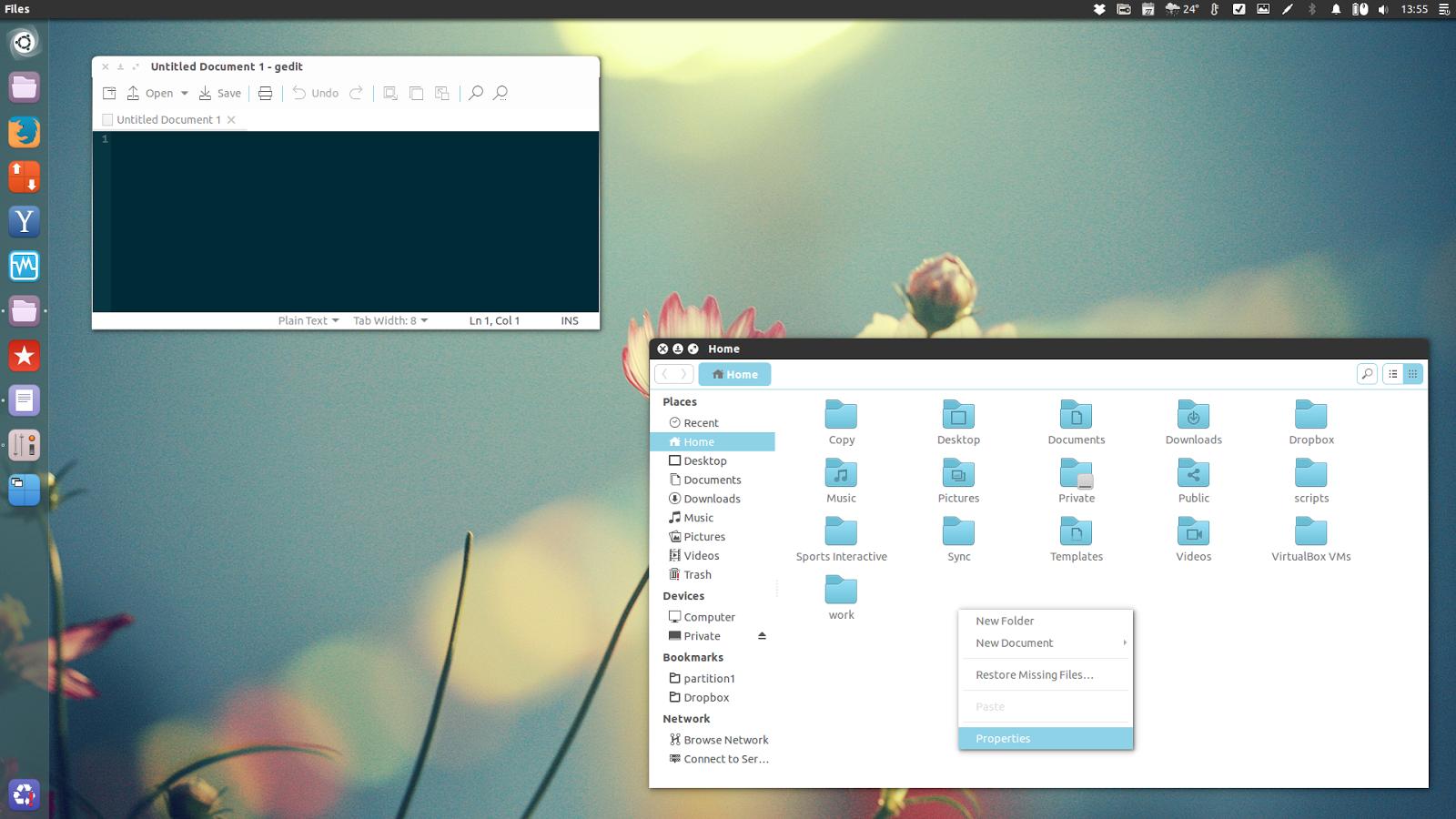 Google themes ubuntu 14.04 - Stark Ceru Gtk Theme Faba Ceru Icon Theme In Unity Ubuntu 14 04
