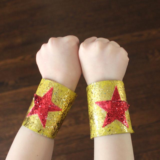 Rachael RabbitPaper Roll CraftSuper Hero Bracelets
