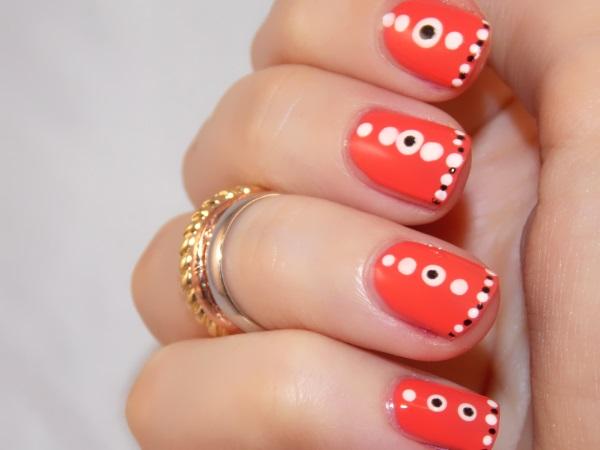 vernis, corail, nail art