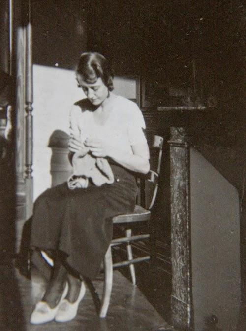 Marie tricote