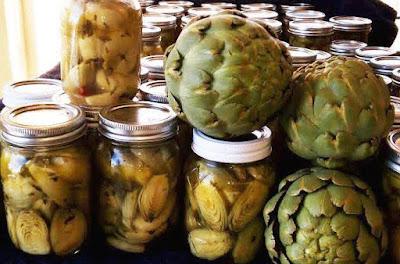 Canning artichokes