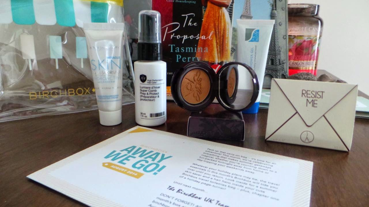 Away We Go; Birchbox; Beauty Box; Review; Subscription box