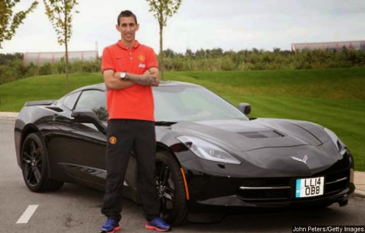 Angel di Maria, sports car, Chevrolet Corvette Stingray