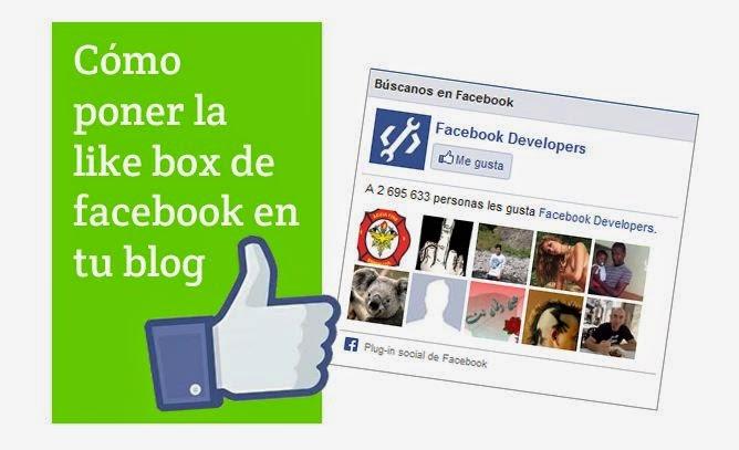 poner facebook en mi web, insertar facebook en blogger