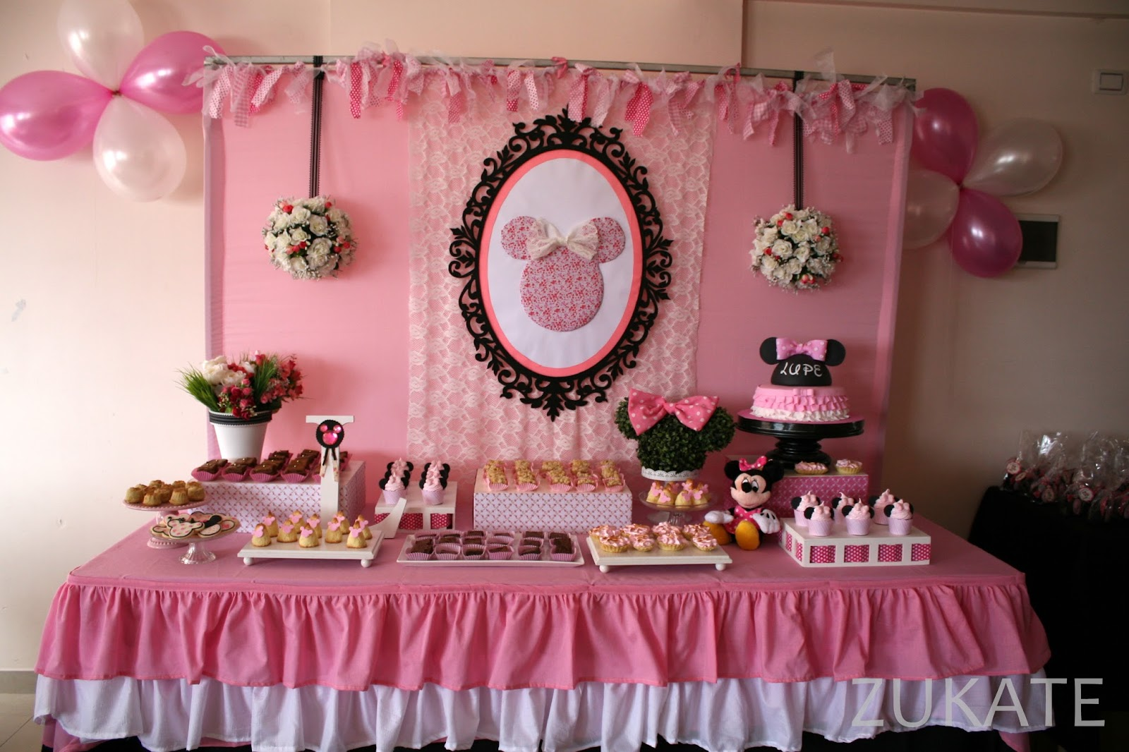 Decoracion Minnie Fucsia ~ ZUKATE FIESTA DE MINNIE MOUSE PARA LUPE