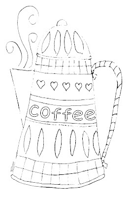 Coffee Pot Crudoodle Digital Stamp by Tori Beveridge