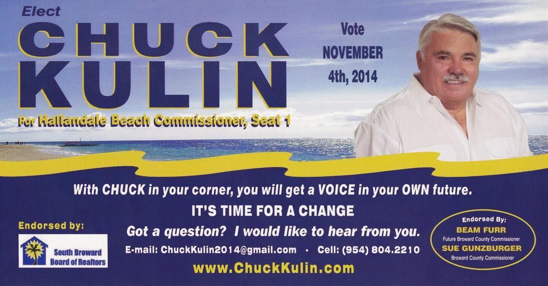 Chuck Kulin for Hallandale Beach Commissioner, Seat 1