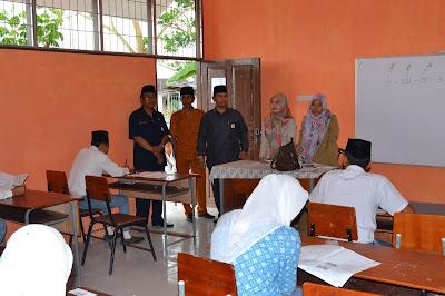 Kakankemenag Tanjungbalai Monitoring Pelaksanaan UAMBN di Madrasah Aliyah Aras Kabu Agung