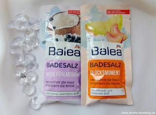 Balea - Badesalz - Wohlfühlmomement + Glücksmoment - www.annitschkasblog.de