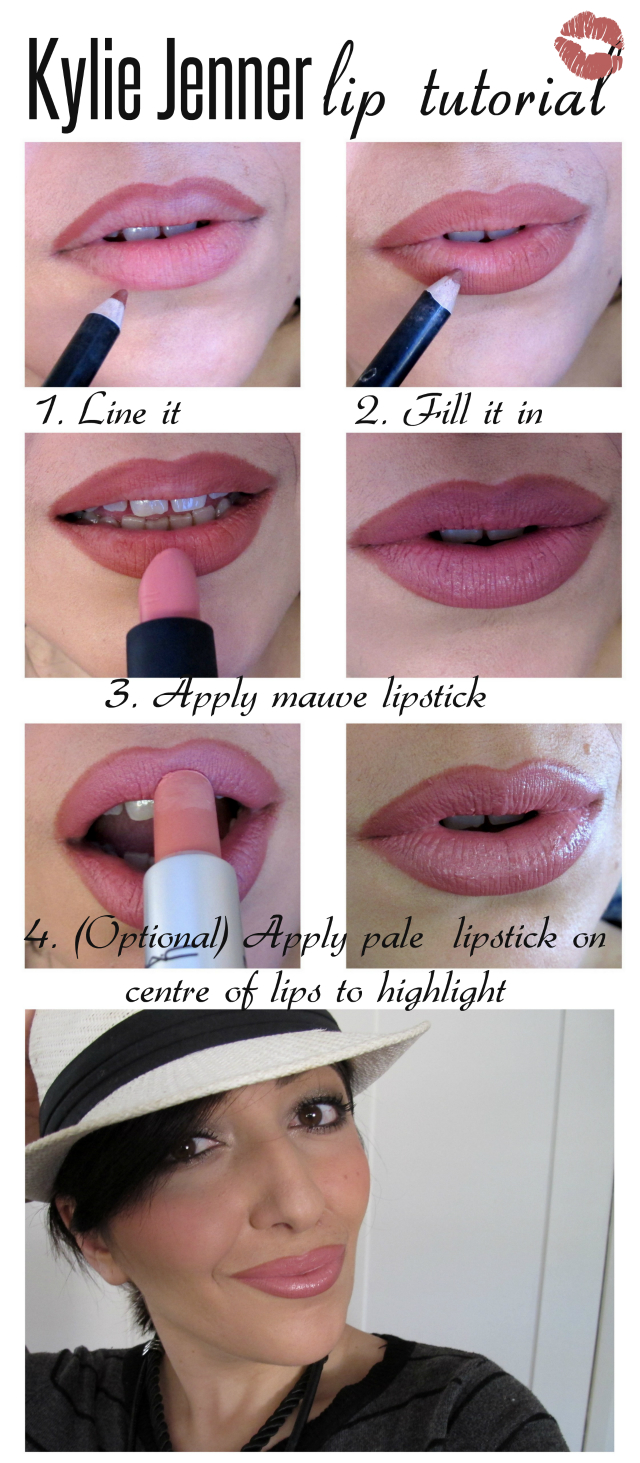 Kylie jenner lip tutorial makeup and macaroons july 29 2014 baditri Image collections